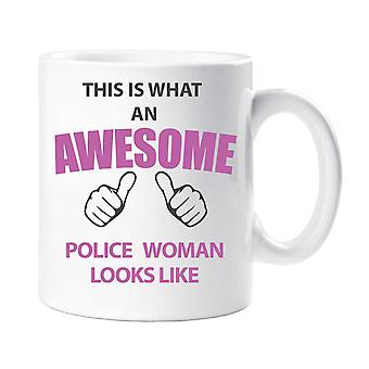 This Is What An Awesome Police Woman Looks Like Mug
