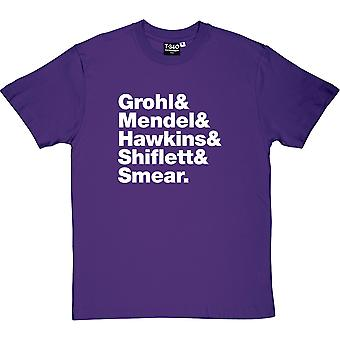 Foo Fighters Line-Up Men's T-Shirt
