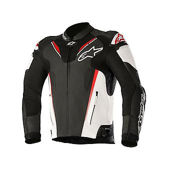 Alpinestars Black-White-Red Atem V3 Motorcycle Leather Jacket