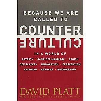 Da wir um Gegenkultur aufgerufen werden: In einer Welt voller Armut, gleichgeschlechtliche Ehe, Rassismus, Sex-Sklaverei, Einwanderung...