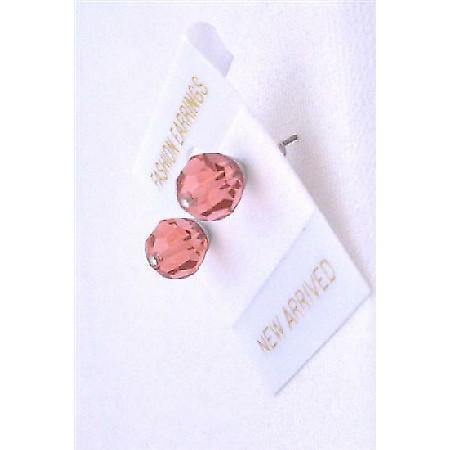Crystal Padparascha Swarovski Padparascha Crystal Stud Prom Earrings