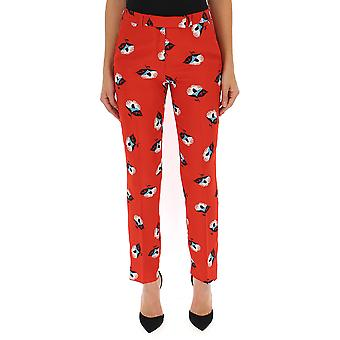 Etro Red Synthetic Fibers Pants