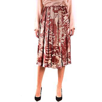 Falda de seda Multicolor de Céline