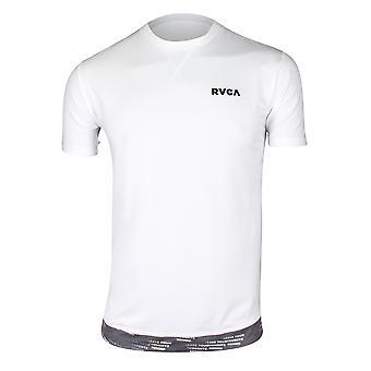 RVCA Mens VA Sport Runner Mesh II SS Shirt - White