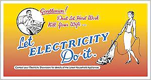 Don't Let Hard Work Kill Your Wife enamelled wall sign (dp)