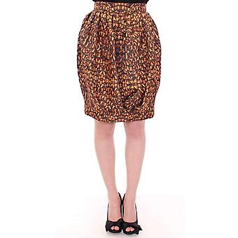 Kaale Suktae Bubble Baloon Bee Print Above Knee Skirt -- MOM1758405