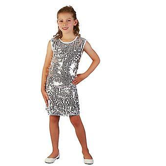 Los trajes de los niños plata brillo vestido de niños