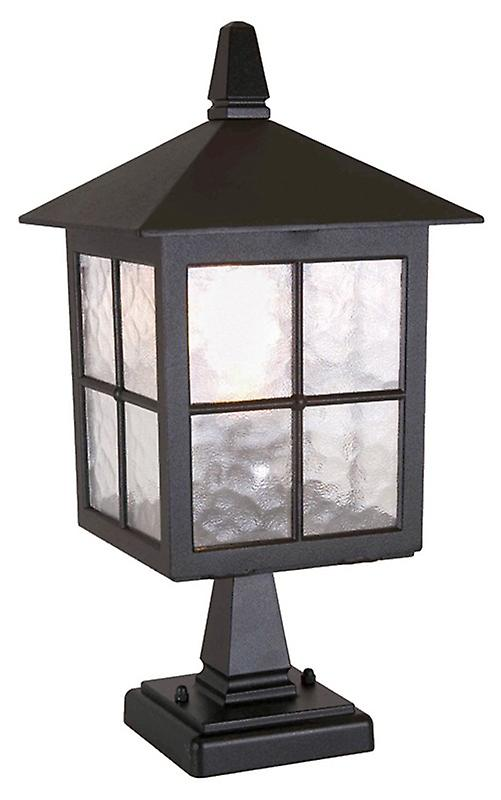 Elstead BL25 BLACK Winchester Traditional Outdoor English Style Pedestal Lantern