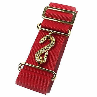 Masonic Belt Extender Red