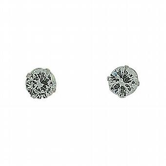 Die Olivia Collection Sterling Silber 6mm Solitaire-Ohrstecker
