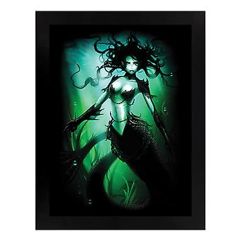 Grindstore Ethereal Mermaid Black Wooden Framed Print