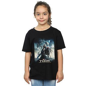 Marvel Studios Girls Thor The Dark World Poster T-Shirt