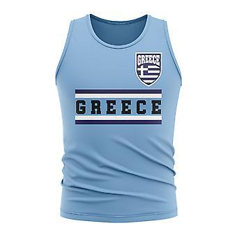Greece Core Football Country Sleeveless Tee (Sky)
