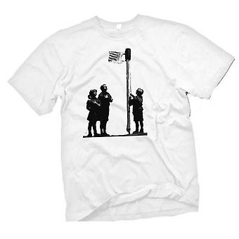 Mens T-shirt - Banksy Graffiti Art