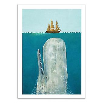 Konst-affisch-the Whale-Terry fläkt 50 x 70 cm