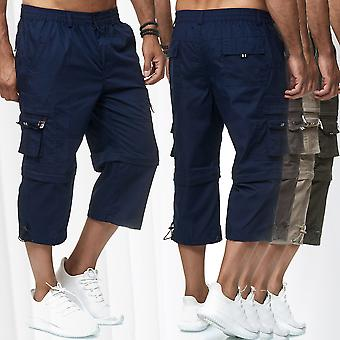 Men's Cargo Shorts Zip Off 3/4 casual trousers slip-on pants 7/8 cargo 2 lengths