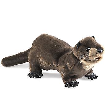 Hand Puppet - Folkmanis - Otter River New Animals Soft Doll Plush Toys 2266
