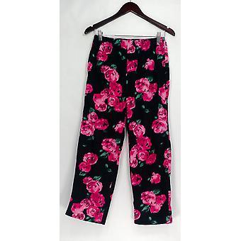Stan Herman Petite Lounge Pants, Sleep Shorts PXS Micro Fleece Novelty Pink