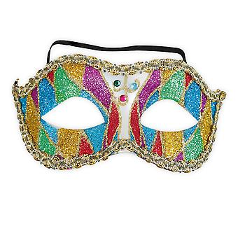 Domino mask with glitter Venice Venetian eye mask accessory