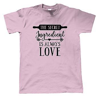 The Secret Ingredient Is Always Love Mens T-Shirt | Signature Creme Pat Hollywood Handshake Winner | Star Baker Bake Off Soggy Technical Showstopper | Baking Gift Him Dad