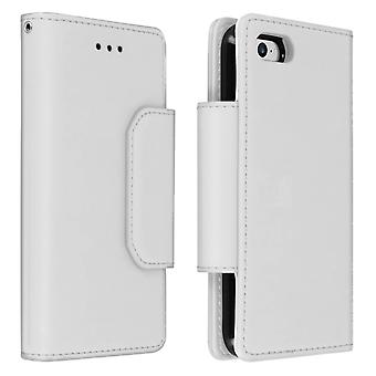 Magnetic Detachable Wallet Folio Case for Apple iPhone 7 / 8 - Silver