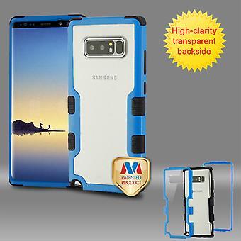 MYBAT Natural Dark Blue Frame+Transparent PC Back/Black TUFF Vivid Hybrid Protector Cover  for Galaxy Note 8