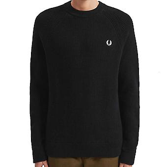 Fred Perry Ribbed Crew Neck Jumper   K7516