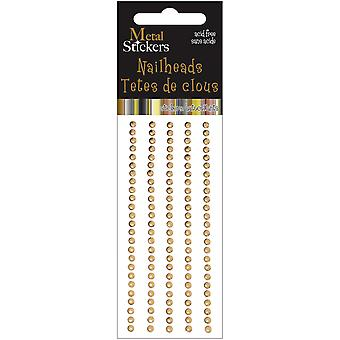 Metal Stickers Nailheads 3Mm Round 125 Pkg Gold 38Ms3mm 3881