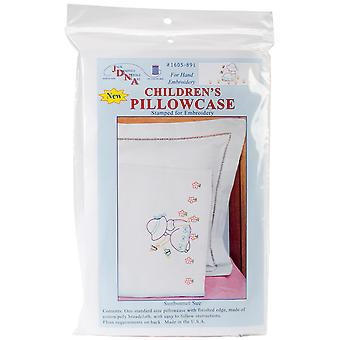 Children's Stamped Pillowcase With White Perle Edge 1 Pkg Sunbonnet Sue 1605 891