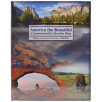 America The Beautiful Commemorative Quarter Map 2010 2021 Lgb2d