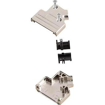 D-SUB housing Number of pins: 9 Metal 45 ° Silver MH Connectors MHDVSL09-K 1 pc(s)
