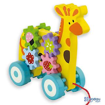 Andreu Toys Pull Lungo Giraffe
