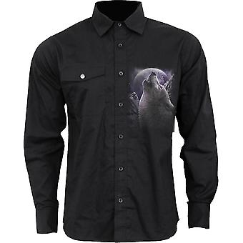 Spiral Direct WOLF gothique SOUL - chemise manches longues Casual | Wolf | Renarde | Roses | Lune