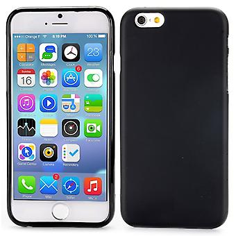High quality rubber cover TPU case for iPhone (black) 4.7 6