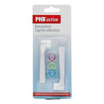 PHB Electric Dental Brush Active Replacement 2 Units