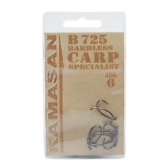 New Kamasan B745 Carp Fishing Hooks - Size 6 Fishing Gear Sport Silver