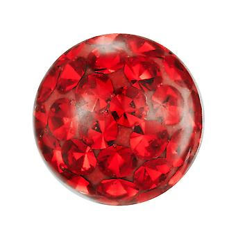 Piercing Replacement Ball, Body Jewellery, Multi Crystal Stones Red | 4, 5 and 6 mm