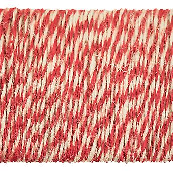 Idea-Ology Jute String 8yd-Christmas Red & Cream TH93344