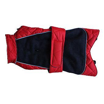 Gå gå quiltet termisk frakke rød 28