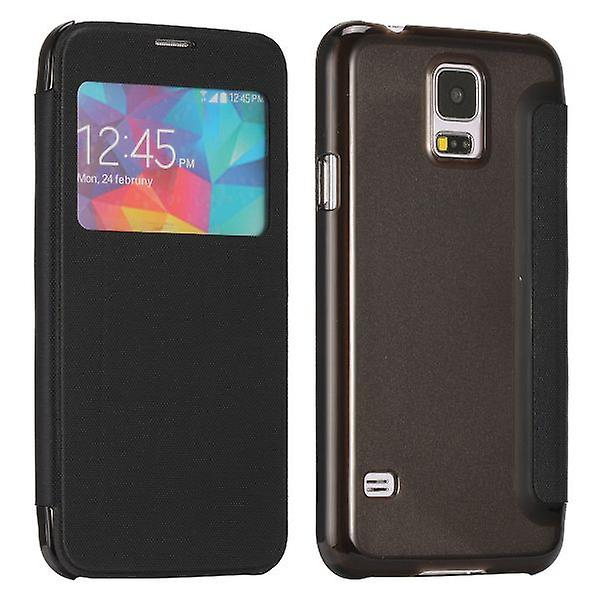 Smart Cover Black Window for Samsung Galaxy S5 G900F Plus G901F