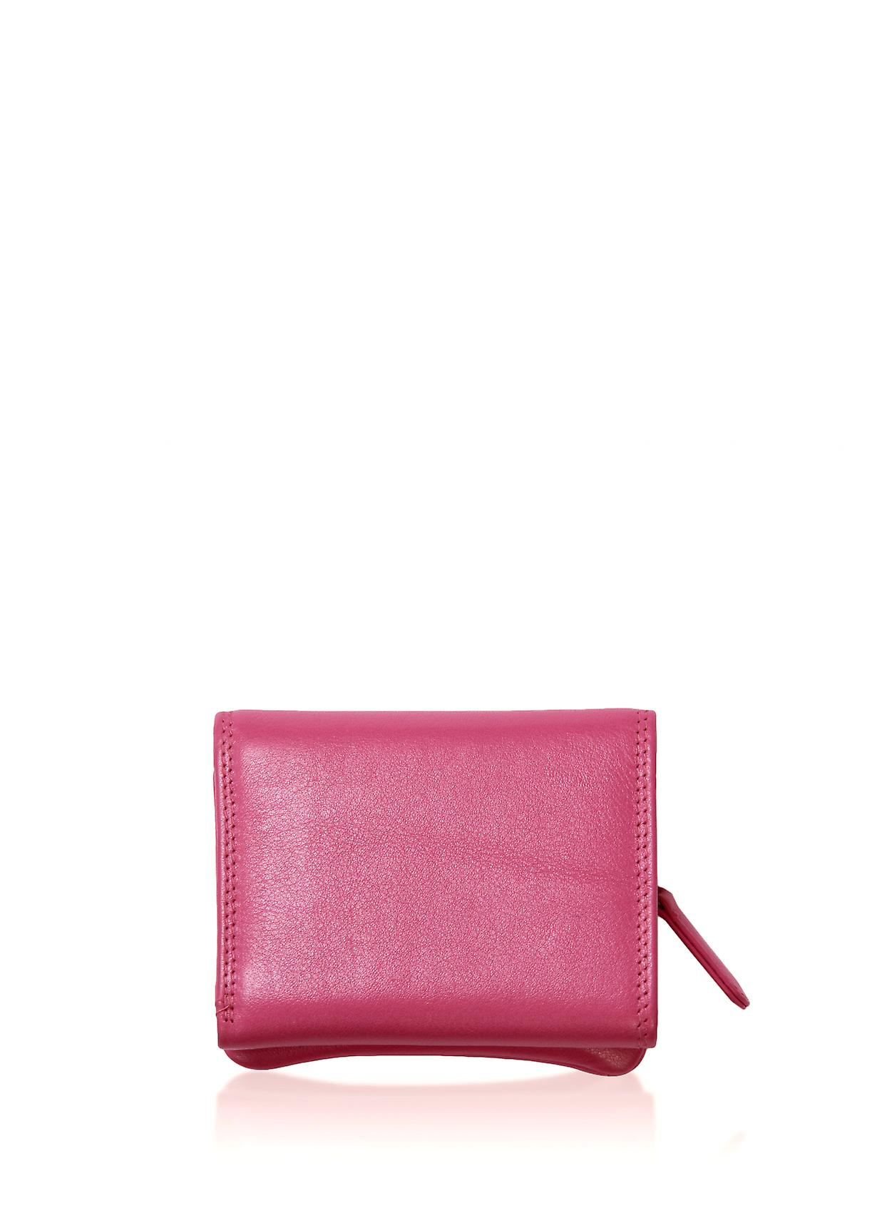 Leather Purse 10cm in Pink