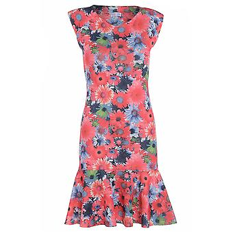 Love2Dress blomstermotiver blyant kjole med Peplum Hem