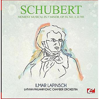Schubert - ögonblick musikal i F Moll Op. 94 nr 3 D.780 [CD] USA import