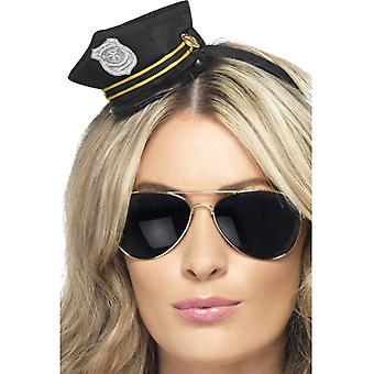 Police hat with headband police COP Hat ladies mini Hat