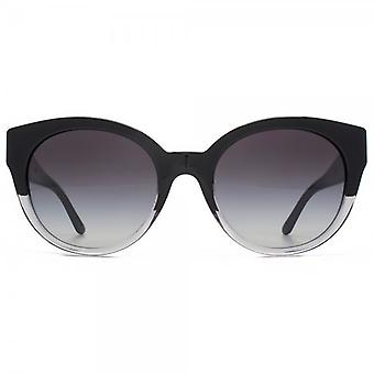 Versace Medusa Chain Cateye Sunglasses In Black Crystal