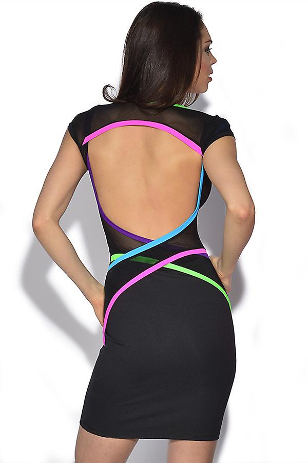 Quontum Neon Backless Wrap band jurk