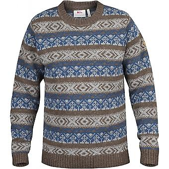 Fjallraven Mens Ovik Folk Knit Sweater Storm (X-Large)