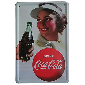 Wellindal Printed Metal Box Vintage Drink Coke 15X21- Hcn1405-87