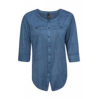 B.C.. best connections by heine shirt ladies blouses shirt Blau Roundneck