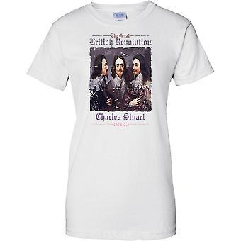 Charles Stuart 1639  -The Great British Revolution  - Ladies T Shirt